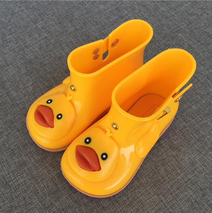 children shoes melissa kids boots girls rainboots duck cute jelly shoes boys rain boots short water shoes rubber children boots - Duck Rain Boots