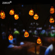 ZINUO Halloween Decoration Pumpkin Fairy Light Solar Powered Pumpkin LED String Light Lanterns Lamp For DIY Outdoor Party Supply