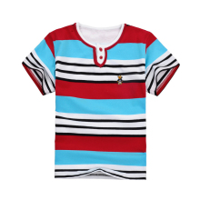 2017 Colorful Boy Striped T Shirt Fashion Infant Boy Cotton Summer T- Shirts Funny Kids T-shirts For Boys