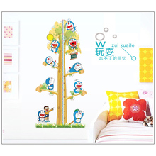 Brand 2017 Height Measure Wall Stickers Dora emon Tree wall sticker Decal for kids rooms Growth Chart Cute Children Nobita Anime