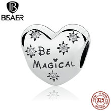 Celebration Gift 925 Sterling Silver Be Magical Heart Beads Charms Fit Pandora  Bracelets Women Silver Jewelry WEUS320