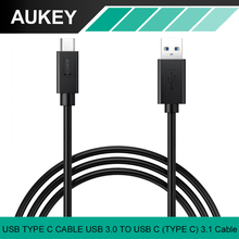 AUKEY USB Type C Cable USB 3.0 to USB C Fast Charge USB Data Cable for Apple New MacBook Nexus Nokia Xiaomi mi5 Cell Phone Cable(China)