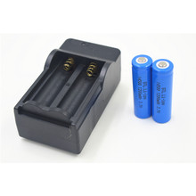 2pcs New 14500 3.7V 1200mAh Rechargeable Batteries 14500 Li-ion Lithium Battery +Travel Charger for Digital Camera Flashlight(China)