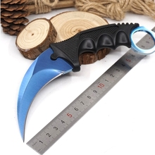 CS GO Karambit Knife Plastic Fixed Blade Knifes Counter Strike Tactical Claw Knives Survival Camping EDC Multi Tools(China)