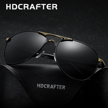 HDCRAFTER High Quality Brand Designer Cool Sunglasses Polarized Oculos de sol masculino 100%UV Protection Eyewear Accessories(China)
