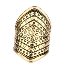 2017 Fashion Personality Exaggeration Punk Retro Sliver Plated Women's Vintage Exquisite Carving Design Alloy Female Rings(China)