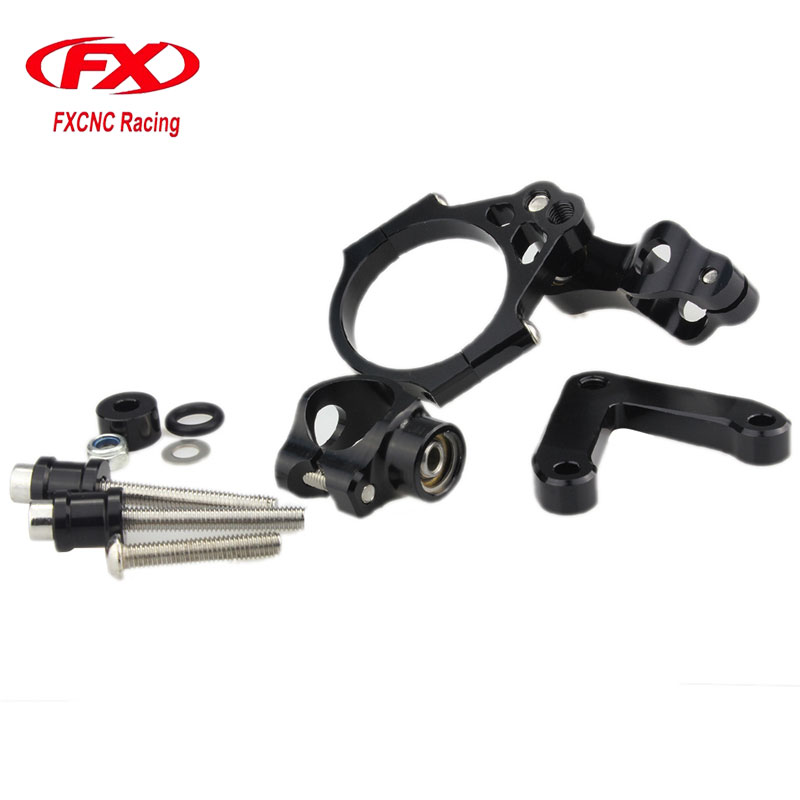 FX CNC Aluminum Adjustable Steering Stabilize Motorcycle Damper Bracket Mounting Kits Fit for DUCATI 848 2008-2010 <br>