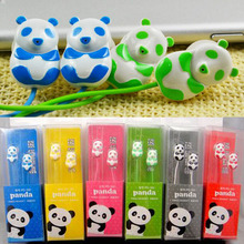 Panda Cell phones Earphones Cartoon Headphones For moble phone Cheapest bear cat earphones for sangxing