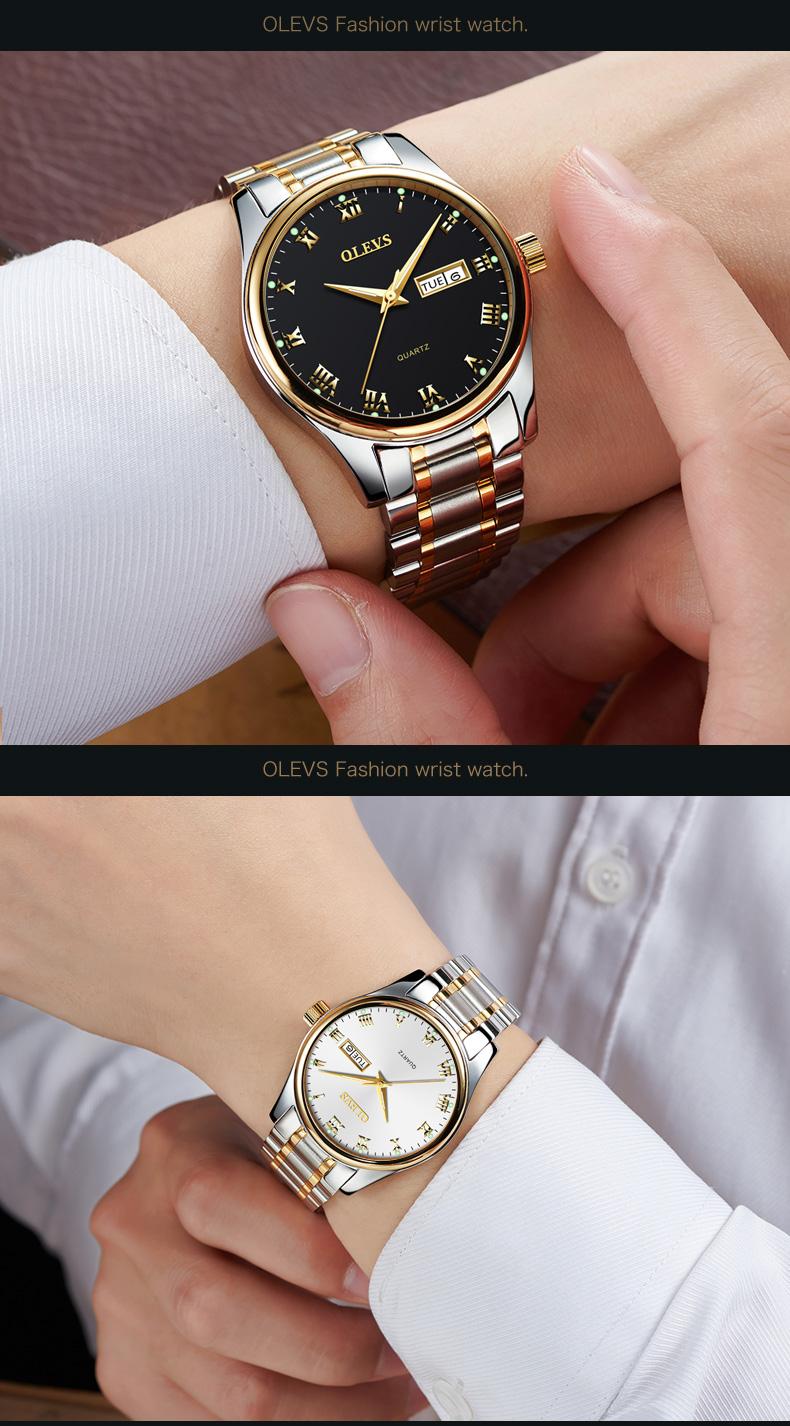 HTB11mm9b6uhSKJjSspdq6A11XXaI - OLEVS Luxury Men Gold Watches High Quality Watch Men's Quartz Date Clock Male Week Display Wristwatch Steel relogio masculino