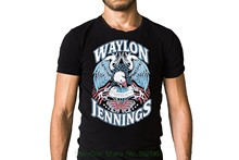 Mens Tops Cool O Neck T-shirt Waylon Jennings Lonesome On'ry And Mean 1976 Song Inspired T-shirt(China)