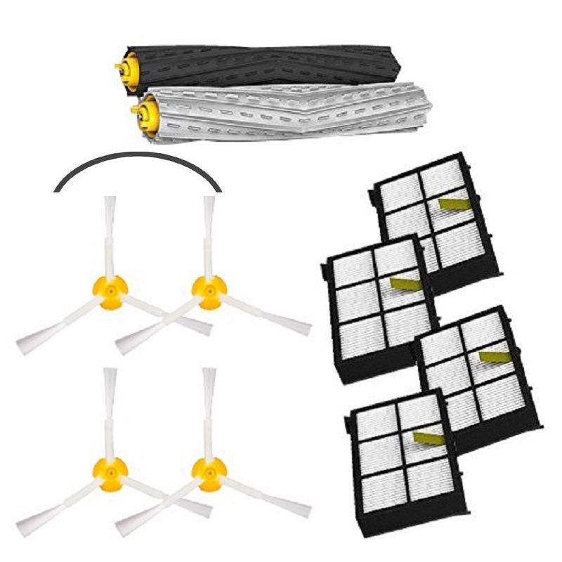 High Quality 1 set Tangle-Free Debris Extractor Brush +4 Hepa filter + 4 side brush for iRobot Roomba 800 900 Series 870 880 980<br><br>Aliexpress