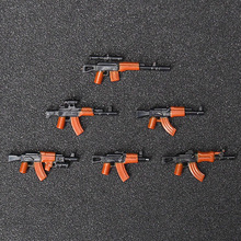 6PCS AK Military Swat Police weapon Guns Figures building blocks brick Figures Compatible legoed toys for children