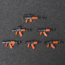 6PCS AK Military Swat Police weapon Guns Figures building blocks brick Figures Compatible legoed toys for children(China)