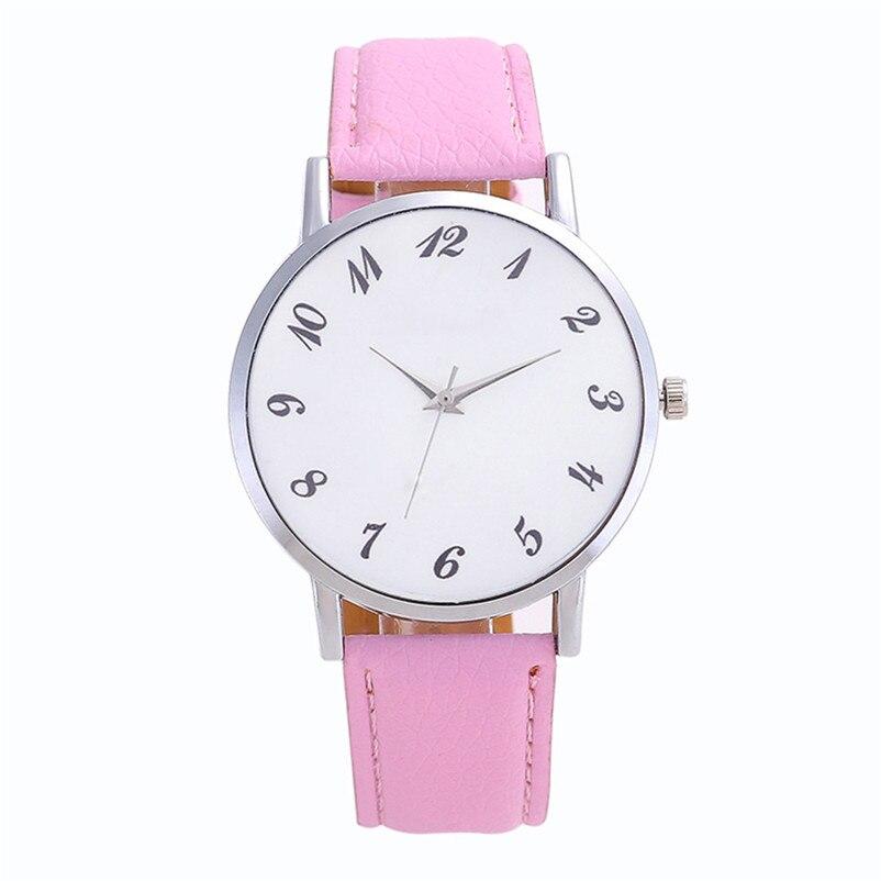 2018 High Quality women fashion casual watch luxury dress Beautiful Fashion Simple Watch Leather band Watch Reloj mujer J06#N (6)