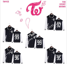 TWICE k-pop clothes moletons moletom MOMO Models Baseball Uniform Women hoodies kpop hoodie sweatshirt woman tracksuit(China)