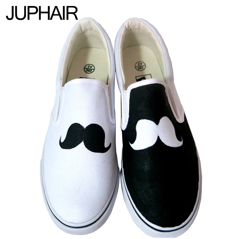 JUP Shoes Simple and Generous Moustache Sunflower Cats Colors Mens Males Hand Painted Canvas Shoes for Boys Girls Kid Footwear<br><br>Aliexpress
