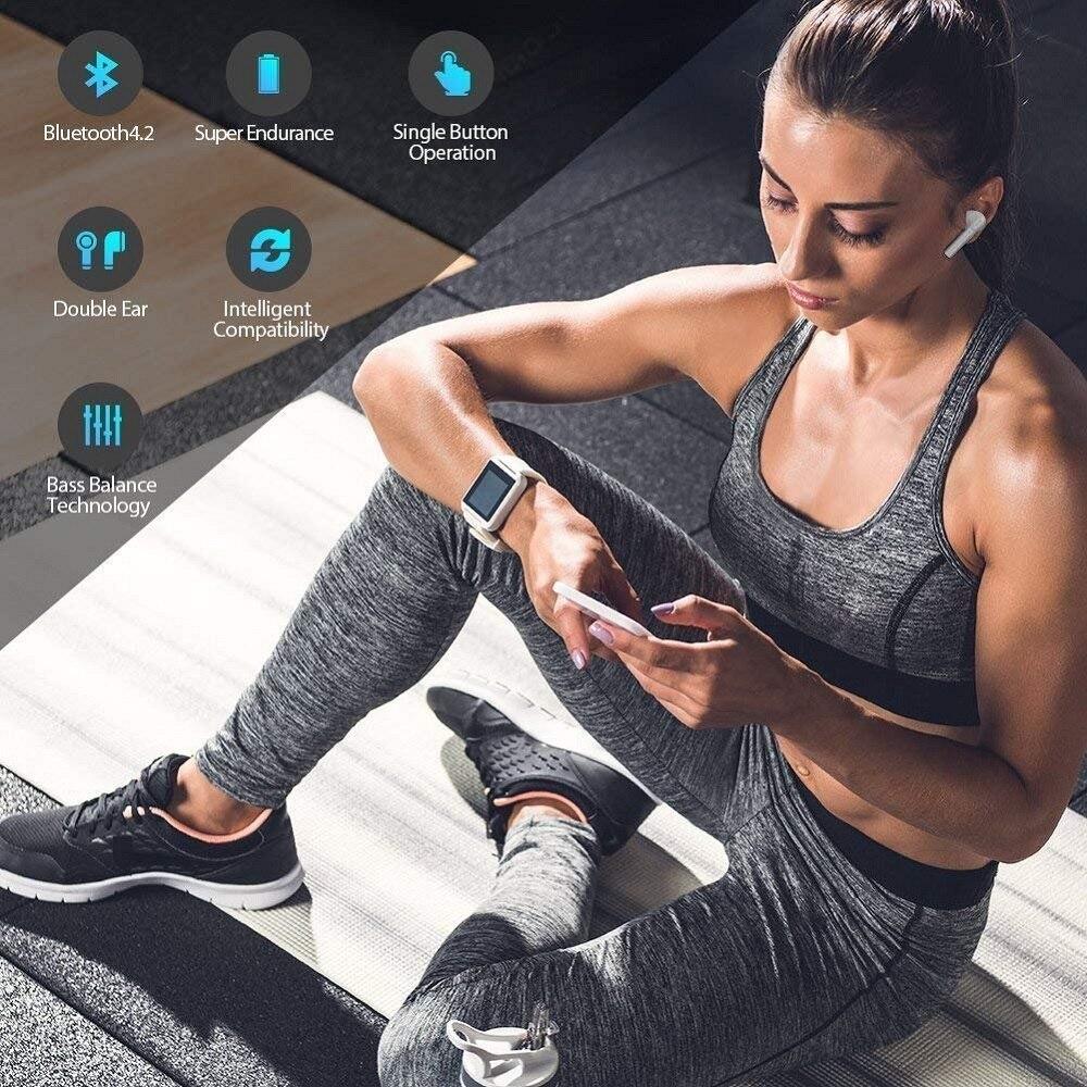 i7s TWS 5.0 Wireless Bluetooth Headphone for Panasonic Toughpad FZ-Y1 Tablet Earphone Music Earbud Charging Box 6