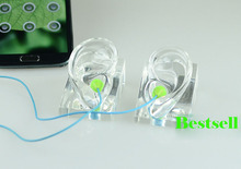 Free Shipping!! Best Quality High Level Clear Ear Model Ear Mannequin Fashionable For Earphone Display