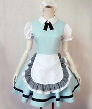 Adult Candy Colors Anime Lolita Fancy Dress Cosplay Japanese Cafe Maid Costumes Dress/Headwear/Apron Women Maid Uniforms