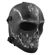 brand new Army Paintball Skull BB Gun Game Full Face Protect Mask Guard Black mascaras cosplay