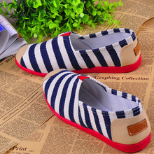 Women Loafer shoes 2017 Women summer new round head  casual wide stripe  fashion style shoes women comfortable flat shoes ST1509