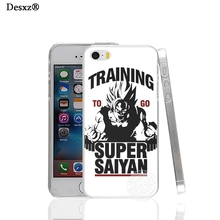 Desxz 17451 Training to go Super Saiyan Dragon ball Z hard transparent Cover Case for Apple iPhone 4 4S 5 5S 5C SE 6 6S Plus(China)