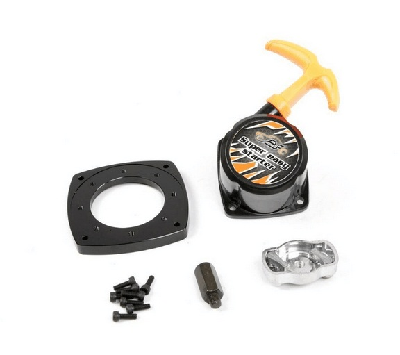 Color: black Part /& Accessories Easy Start Ratchet Pull Starter With Starter Pulley fit 32cc Rovan engine Zenoah engine for 1//5 hpi baja losi parts