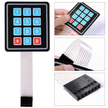 Buy 3PCS/LOT 4*3 Matrix Array 12 Key Membrane Switch Keypad Keyboard/ 3*4 Control Panel Microprocessor Keyboard Arduino AVR for $2.79 in AliExpress store