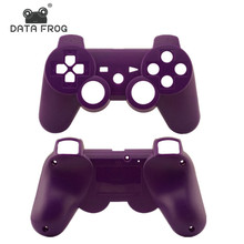 2017 Hot Selling Matte Purple front & back case for sony ps3 Dualshock 3 Wireless Controller case free shipping