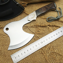 CAVRA F09 Hunting Field Axes,7Cr17Mov Blade Wooden Handle Hand Tools Camping Axe,Mountain Survival Fire Axe.
