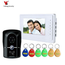 Yobang Security 7 video Home Intercom System RFID IR Camera video door phone two way Building intercom Apartment Outdoor Station
