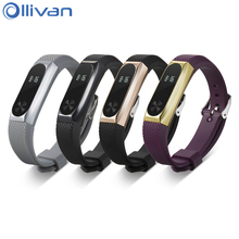 Buy Ollivan Replacement Wrist Strap Xiaomi Miband Mi band 1 & 2 ABS Bracelet Strap Metal Frame Wristband Strap Light-sensitive for $4.15 in AliExpress store