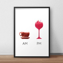 Funny Wine Quote Less Whine More Wine Poster Canvas Art Print , Humour Wine Wall Picture Canvas Painting Bar Art Decor(China)