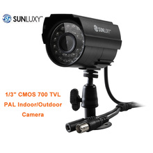 SUNLUXY 700TVL Security Bullet Camera PAL Waterproof 24 LED IR-CUT Night Vision CCTV Camera Surveillance System BNC Connector