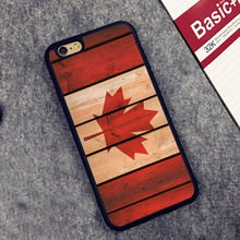 Canada Flag Printed Soft Rubber Mobile Phone Cases Accessories For iPhone 6 6S Plus 7 7 Plus 5 5S 5C SE 4 4S Cover Shell