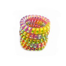 Lots 5 Pcs 5.5cm Colorful Elastic Telephone Wire Hairband Hair Ties Rope Plastic Hair Bands Accessories