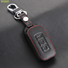 Car Styling, Car keychain Leather Key Cover Case For Mitsubishi Outlander Lancer 10 Pajero Sport ASX RVR L200 ,Smart 3 Buttons