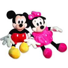 Free Shipping 2016 Hot Sale 28 cm plush toys wholesale Mickey or Minnie doll lovers wedding doll doll valentine's gift