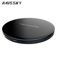 10W Fast Qi Wireless Charger USB Type-C Pad For iPhone X 8 Plus Samsung Galaxy S8 Plus S7 S6 Edge Plus Note 5 8 Elephone P9000(China)