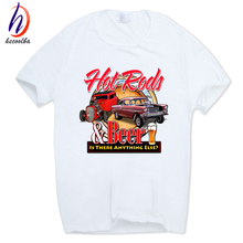 Hecoolba 2017 Print Rat Rod School Classic Muscle Car T-shirt O-Neck Short sleeves Summer Casual American Auto T Shirt HCP789