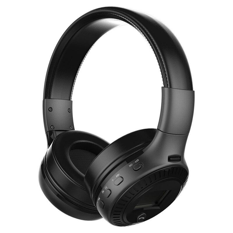 Orignal ZEALOT B19 LCD Display HiFi Bass Stereo Wireless Bluetooth Headphone With Microphone, FM Radio, Micro-SD Card Slot<br>