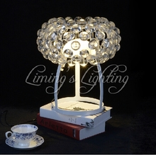 Italy Style European Crystal Home Ceiling Foscarini Caboche Ball Acrylic Ring Pendant Table Desk Lamp Light Lighting Chandelier