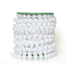 33 Feet Roll White Pearl String Bead Garland Strands Wedding Centerpieces Manzanita Tree Christmas Chandelier Deco