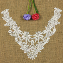 1 PC Embroidery Collar Lace Flowers Neckline Applique Trim, Collar Flower Fashion Hollow Decoration Clothing Acessories