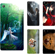Buy Cute Cat Girl Painting Pattern Case Sony Xperia M5 E5603 E5606 E5653 / Xperia M5 Dual E5633 E5643 E5663 Plastic Back Cover for $2.93 in AliExpress store