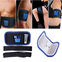 HOT! Portable Electronic Muscle Massage Abdominal Legs Arms Toning Slim Fit Belt(China)