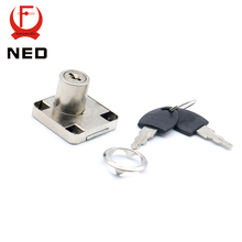 NED-138 Furniture Iron Drawer Locks 19mm Diameter 22mm Thickness Cabinet Desk Cupboard Lock Home Hardware With Plastic Keys(China)