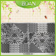 10 PCs/lot New BQAN Unique Beautiful Peacock Designs Flower Series  Nail Plate and Machine FL-06