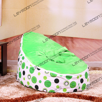 FREE SHIPPING baby seat with 2pcs green up covers baby bean bag chair kids bean bag seat cover lazy bone bean bag chair<br><br>Aliexpress