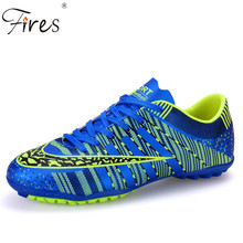 Fires Professional Indoor Soccer Shoes Men Women Rubber Sole lover Football Boots sports Athletic Training Shoes crampons foot(China)
